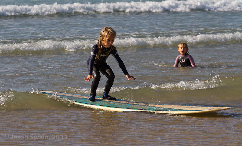 Take the kids surfing at Compton Bay